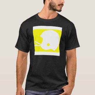 黄色いフットボールのロゴ Tシャツ