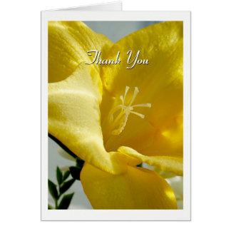 黄色いフリージアのサンキューカード カード