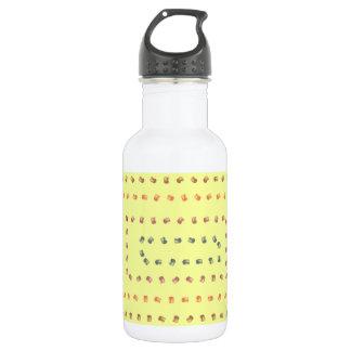 黄色いプリントのデザイン ウォーターボトル