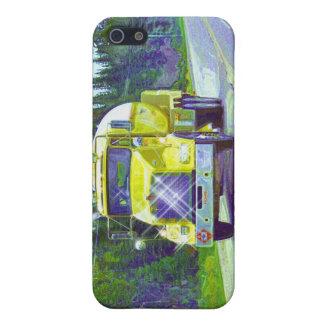 黄色いプロパンのガス配達トラック運転手のiPhoneの箱 iPhone 5 ケース
