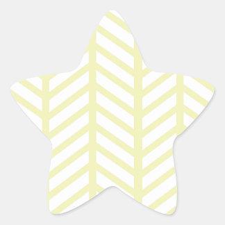 黄色いヘリンボン 星シール