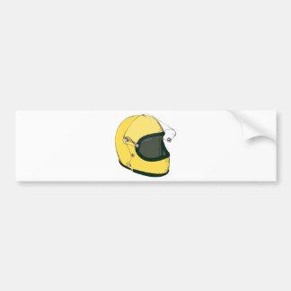 黄色いヘルメット バンパーステッカー