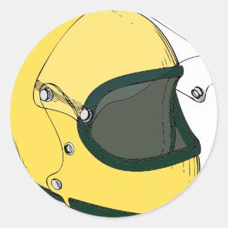 黄色いヘルメット ラウンドシール