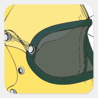黄色いヘルメット 正方形シール・ステッカー