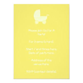 黄色いベビーカー 16.5 X 22.2 インビテーションカード