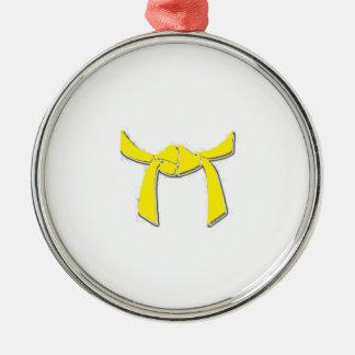 黄色いベルトのオーナメント メタルオーナメント