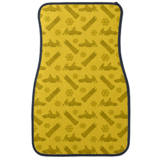 黄色いボブスレーパターン カーマット
