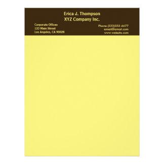 黄色いボーダービジネス レターヘッド