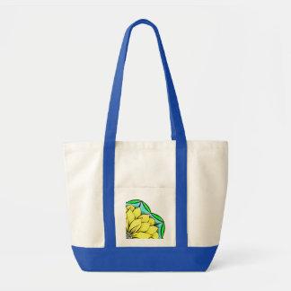 黄色いポインセチアのバッグ トートバッグ