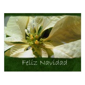 黄色いポインセチア1 - Feliz Navidad ポストカード