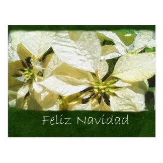 黄色いポインセチア2 - Feliz Navidad ポストカード