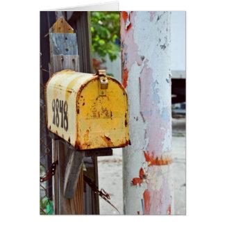 黄色いポスト カード