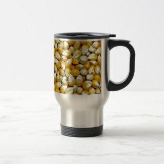 黄色いポップコーンの穀粒パターン トラベルマグ