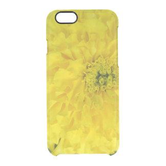 黄色いポンポンのマリーゴールド クリアiPhone 6/6Sケース