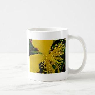 黄色いマクロ花の抽象的概念 コーヒーマグカップ