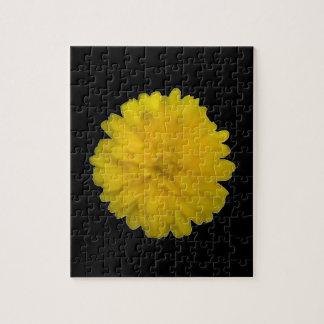 黄色いマリーゴールドのパズル ジグソーパズル