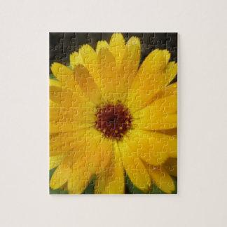 黄色いマリーゴールドのマクロパズル ジグソーパズル