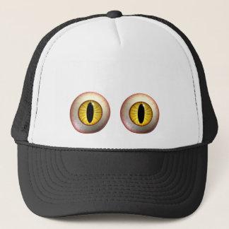 黄色いモンスターの眼球の帽子 キャップ
