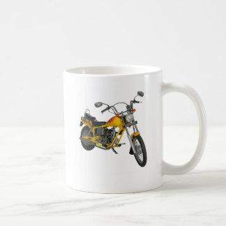 黄色いモーターバイク コーヒーマグカップ