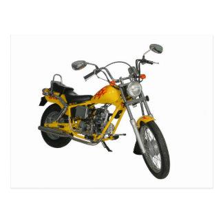 黄色いモーターバイク ポストカード