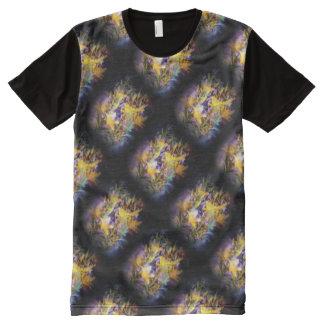 黄色いユリのファンタジーの対角線 オールオーバープリントT シャツ