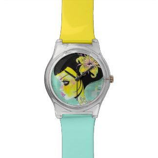 黄色いユリの腕時計 腕時計