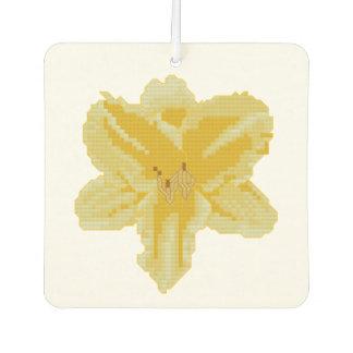 黄色いユリ カーエアーフレッシュナー
