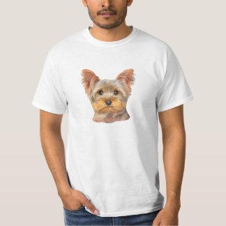 黄色いヨークシャーテリア-価値Tシャツ Tシャツ