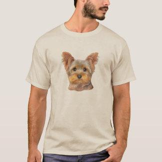 黄色いヨークシャーテリア-基本的なTシャツ Tシャツ