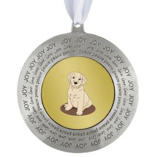 黄色いラブラドル・レトリーバー犬の天使 オーナメント