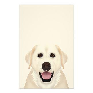黄色いラブラドル・レトリーバー犬の漫画 便箋