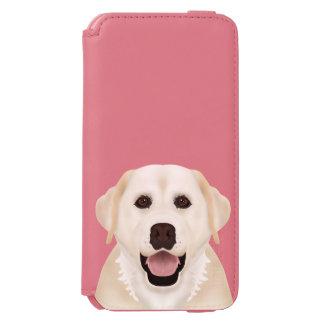 黄色いラブラドル・レトリーバー犬の漫画 INCIPIO WATSON™ iPhone 6 ウォレットケース