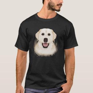 黄色いラブラドル・レトリーバー犬の漫画 Tシャツ