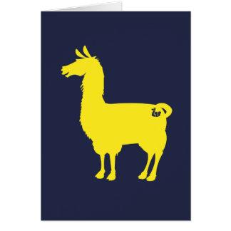 黄色いラマの挨拶状 カード