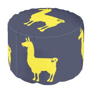 黄色いラマのPouf プーフ
