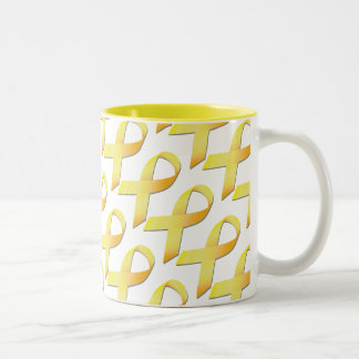 黄色いリボンの自殺の認識度のコップ ツートーンマグカップ