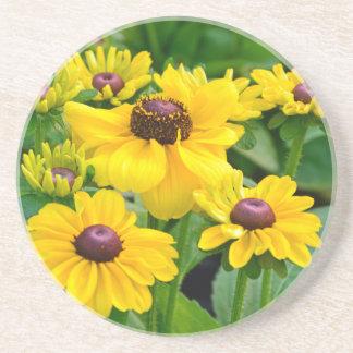 黄色いルドベキアの花園 コースター