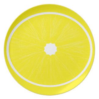 黄色いレモンプレート プレート