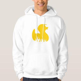 黄色いロカビリーのアヒル パーカ
