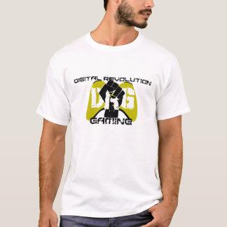 黄色いロゴのTシャツ: 白い人 Tシャツ