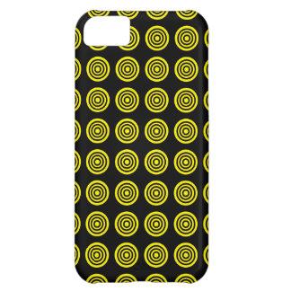 黄色い中心点の黒のiPhoneの箱 iPhone5Cケース