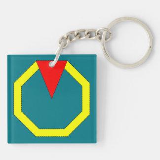 黄色い八角形 キーホルダー