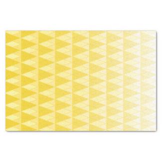 黄色い勾配の衰退の三角形のプリント 薄葉紙