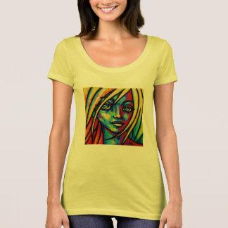 黄色い化粧のペンキのティー Tシャツ