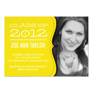 黄色い卒業の発表 カード