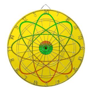 黄色い原子金属のおりのダート盤 ダーツボード