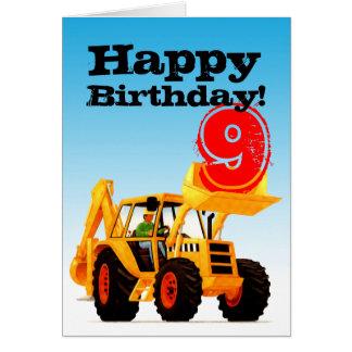 黄色い坑夫の第9誕生日 カード