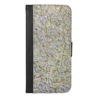 黄色い壁の背景 iPhone 6/6S PLUS ウォレットケース