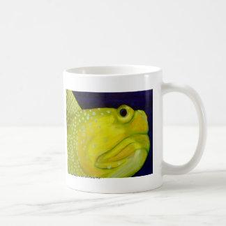 黄色い夜警のハゼの魚 コーヒーマグカップ