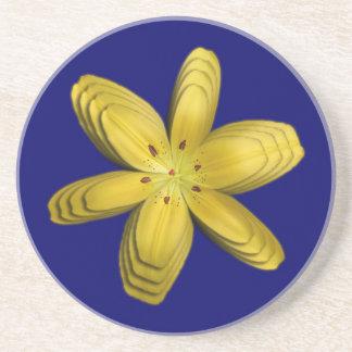 黄色い妖精ユリの抽象芸術のコースター コースター